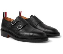 Pebble-grain Leather Monk-strap Shoes