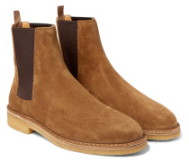 Cigar Suede Chelsea Boots