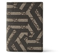 GG Caleido Coated Canvas and Leather Cardholder