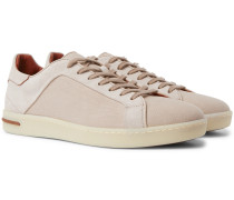 Traveller Suede and Canvas Sneakers