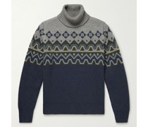 Fair Isle Wool-Blend Rollneck Sweater