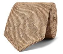 + Drake's 8cm Striped Mélange Textured-Silk Tie