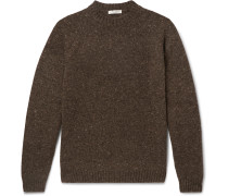 Ezra Mélange Camel Hair-Blend Sweater