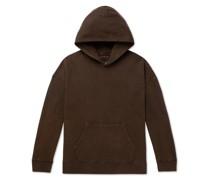Jumbo Garment-Dyed Loopback Cotton-Jersey Hoodie