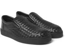 Dodger Intrecciato Leather Slip-on Sneakers