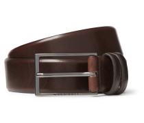 3.5cm Black Carmello Leather Belt