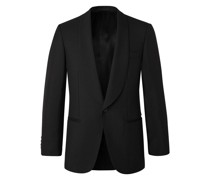 Slim-Fit Wool and Mohair-Blend Tuxedo Jacket