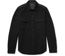 Rossland Mory Shell-panelled Wool-blend Flannel Shirt