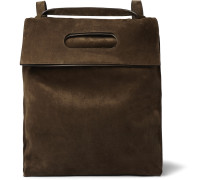 Convertible Suede Backpack