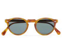 Gregory Peck Round-frame Tortoiseshell Acetate Photochromic Sunglasses