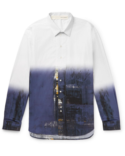 Printed Cotton Shirt - White