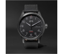Air Racing Edition V 45mm Stainless Steel And Leather Watch
