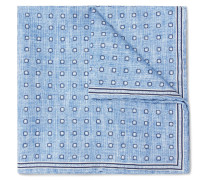 Polka-dot Silk And Cotton-blend Pocket Square