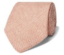8.5cm Herringbone Linen-Jacquard Tie