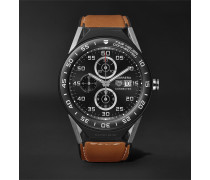 Connected Modular 45mm Titanium, Ceramic And Leather Smartwatch