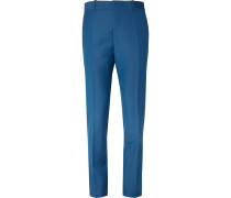 Cobalt Slim-fit Wool And Mohair-blend Suit Trousers
