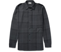 Connor Layered Checked Cotton-poplin Shirt