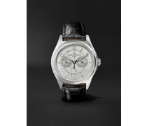 Fiftysix Day-Date Automatic 40mm Stainless Steel and Alligator Watch, Ref. No. 4400E/000A-B437