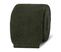6cm Two-tone Knitted Silk And Cashmere-blend Tie