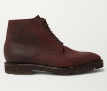Forge Waxed-Suede Oxford Boots