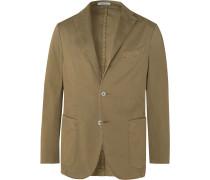 K-Jacket Slim-Fit Unstructured Stretch-Cotton Twill Suit Jacket