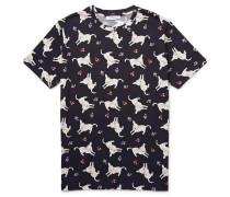 Studded Donkey-print Cotton-jersey T-shirt