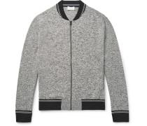 Mélange Jersey Zip-up Sweatshirt