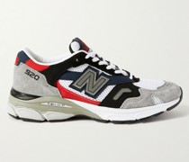 M920 Leather, Suede and Mesh Sneakers