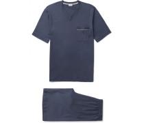 Mercerised Cotton-jersey Pyjama Set