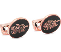 + Deakin & Francis Animal Rose Gold-Tone and Enamel Cufflinks