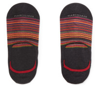 Invisible Touch Striped Pima Cotton-blend No-show Socks