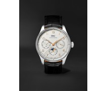 Portugieser Perpetual Calendar Automatic 42.4mm Stainless Steel and Alligator Watch, Ref. No. IW344203