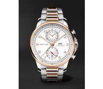 Portugieser Yacht Club Automatic Chronograph 44.6mm 18-Karat Gold and Stainless Steel Watch, Ref. No. IW390703