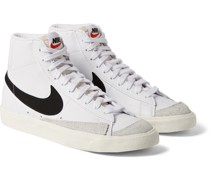 Blazer Mid '77 Suede-Trimmed Leather Sneakers