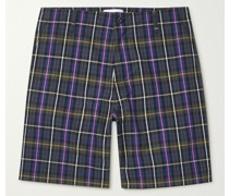 Checked Cotton-Poplin Golf Shorts