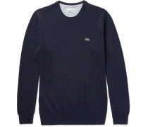 Slim-fit Knitted Cotton Sweater