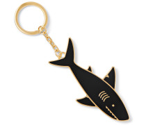 Shark Gold-tone Enamel Key Fob