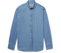 Button-down Collar Stretch-cotton Chambray Shirt