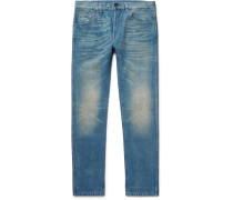 Slim-fit Stonewashed Denim Jeans