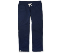 Fleece-back Cotton-blend Jersey Sweatpants