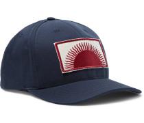 Appliquéd Cotton-canvas Baseball Cap