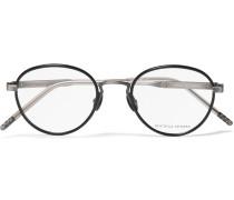 Round-frame Acetate And Titanium Optical Glasses