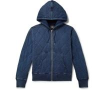 Quilted Cotton-Jersey  Zip-Up Hoodie