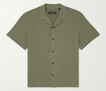 Avery Camp-Collar Knitted Cotton Shirt