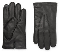 Cashmere And Thinsulate-lined Leather Gloves