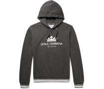Printed Loopback Cotton-blend Jersey Hoodie
