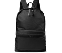 Kent Leather-trimmed Shell Backpack