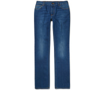 Bootcut Washed-denim Jeans