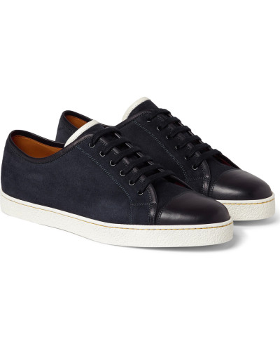 John Lobb Herren Levah Cap-toe Suede And Leather Sneakers