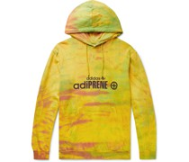 Logo-Print Tie-Dyed Cotton-Jersey Hoodie